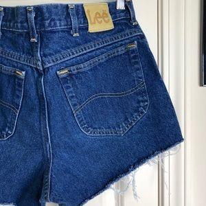 Vintage Lee Hi-Rise Denim Cut Off Shorts